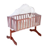 Baby Wooden Cot Crib cum Swing, Mattress & Mosquito Net