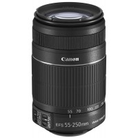 Lens, Canon 55-250mm Zoom for DSLR camera