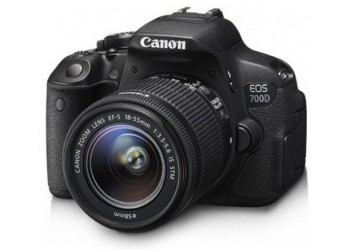Canon 700D 18megapixel Camera, 18-55mm lens