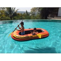 Inflatable Pool Raft with Oars by Intex