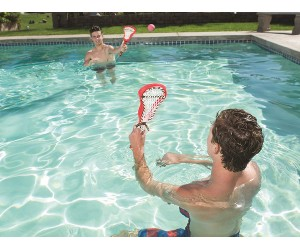Pool Lacrosse with goals