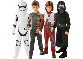 Star Wars Costumes: Pack of 3 – Storm Trooper, Kylo Ren, Poe Dameron