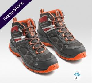 High ankle, Waterproof Men's Trekking Shoes by Quechua