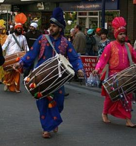 Traditional Punjabi Wooden Dhol